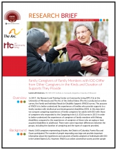 FSRTC Research Brief 8: Family Caregivers of Family Members with IDD Differ from Other Caregivers in the Kinds and Duration of Supports They Provide