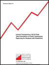 Uneven Transparency: NCLB Tests Take Precedence in Public Assessment Reporting for Students with Disabilities (#43)