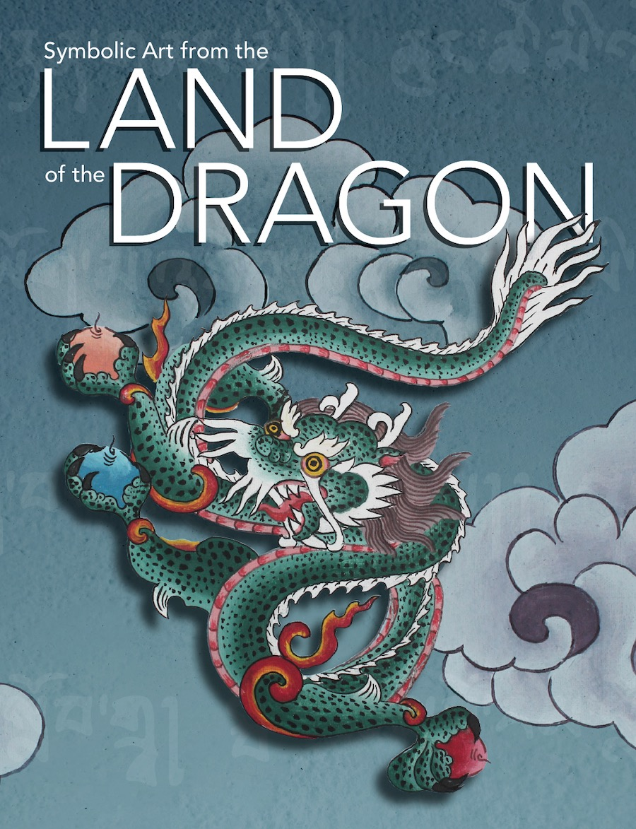 "Cover image for the exhibit known as ""Symbolic Art from the Land of the Dragon."""