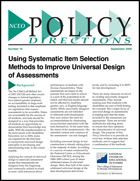 Using Systematic Item Selection Methods to Improve Universal Design of Assessments (#18)