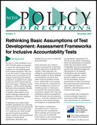 Rethinking Basic Assumptions of Test Development - Assessment Frameworks for Inclusive Accountability Tests (#17)