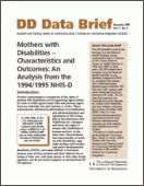 Mothers with Disabilities - Characteristics and Outcomes: An Analysis From the 1994/1995 NHIS-D