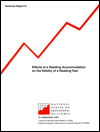 Effects of a Reading Accommodation on the Validity of a Reading Test (#28)