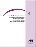 Accessible Reading Assessments for Students with Disabilities: The Role of Cognitive, Grammatical, Lexical, and Textual/Visual Features