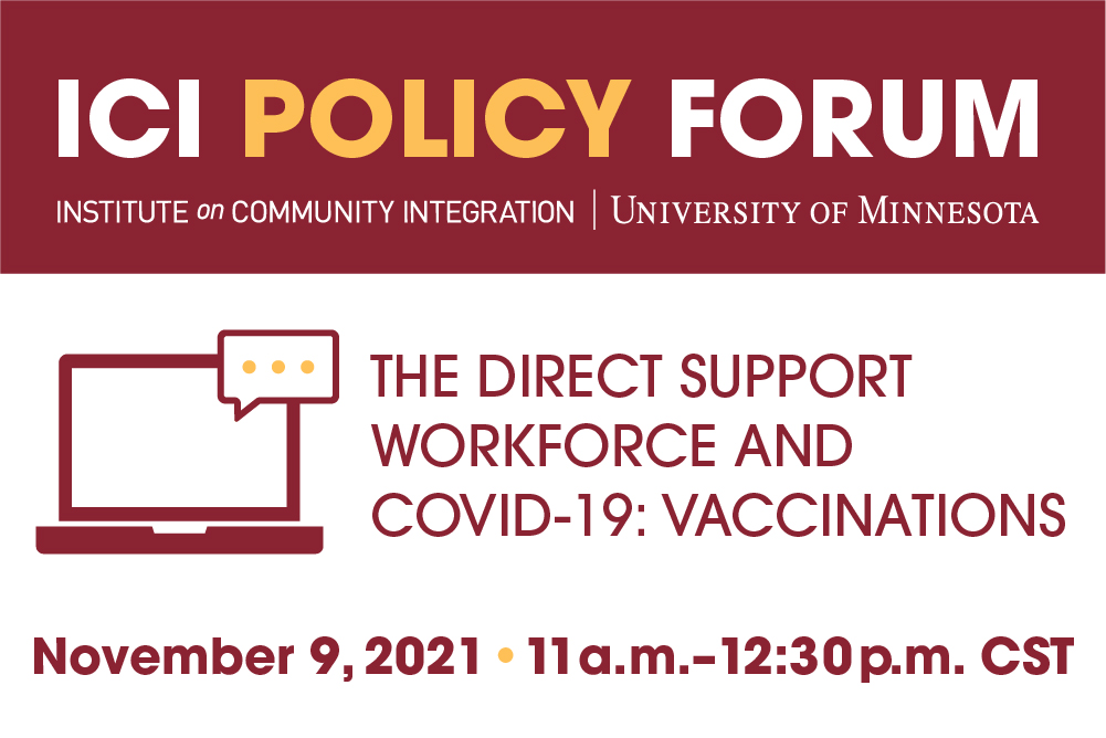 Announcement for Policy Forum on November 9, 2021.