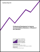 Professional Development to Improve Accommodations Decisions - A Review of the Literature (#84)