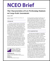 The Characteristics of Low Performing Students on Large-Scale Assessments (NCEO Brief)