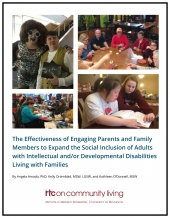 The Effectiveness of Engaging Parents and Family Members to Expand the Social Inclusion of Adults with Intellectual/Developmental Disabilities Living with Families