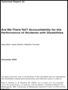 Are We There Yet? Accountability for the Performance of Students with Disabilities (#33)