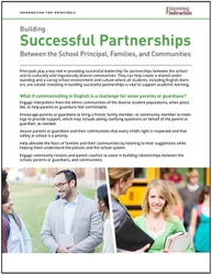 Building Successful Partnerships Between the School Principal, Families, and Communities: information for Principals