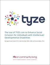The Use of TYZE.com to Enhance Social Inclusion for Individuals with Intellectual/Developmental Disabilities