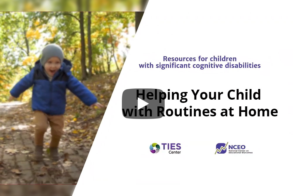 "Cover of the video, ""Helping Your Child with Routines at Home."""