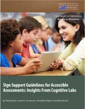 Sign Support Guidelines for Accessible Assessments: Insights From Cognitive Labs