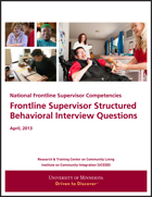 Frontline Supervisor Structured Behavioral Interview Questions