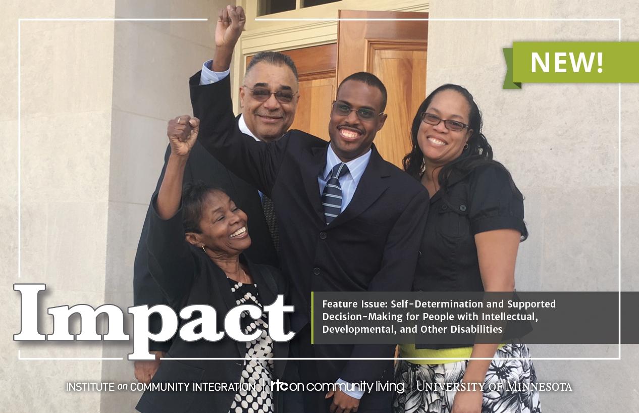 Photograph of postcard promoting Impact, 32(1).