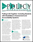 Putting it All Together - Including Students with Disabilities in Assessment and Accountability Systems (#16)