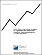 Delphi Study of Instructional Strategies for English Language Learners with Disabilities: Recommendations from Educators Nationwide (#21)