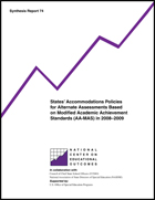 States' Accommodations Policies for Alternate Assessments Based on Modified Academic Achievement Standards (AA-MAS) in 2008-2009 (#74)