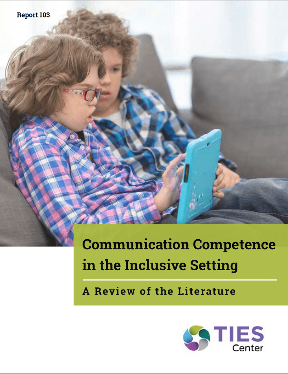 Communication Competence in the Inclusive Setting: A Review of the Literature