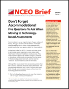 Don't Forget Accommodations! Five Questions To Ask When Moving to Technology-based Assessments (#1)