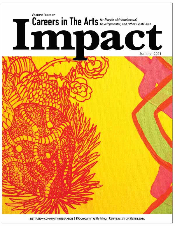 Image of the print cover of Impact featuring Different Hearts, a painting by Jessica Williams.