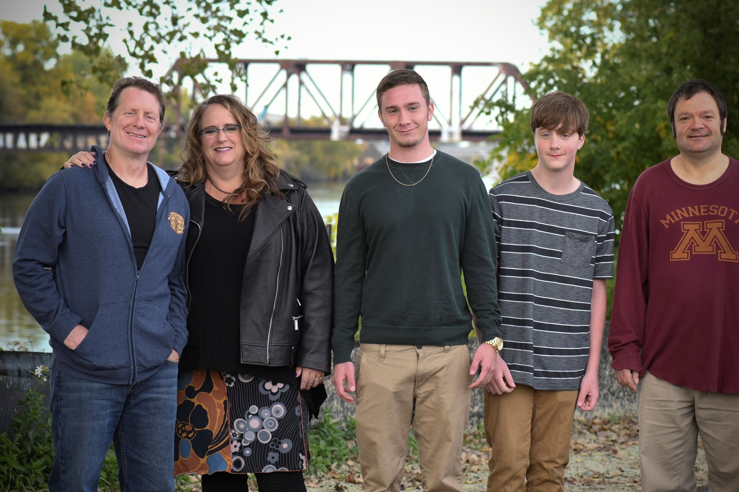 Photo of Amy Hewitt, Director of the Institute on Community Integration with her family