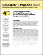 Collaborative Strategic Reading (CSR): Improving Secondary Students' Reading Comprehension Skills