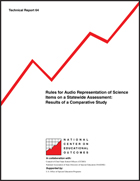Rules for Audio Representation of Science Items on a Statewide Assessment: Results of a Comparative Study (#64)