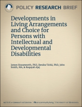 Developments in Living Arrangements and Choice for Persons with Intellectual and Developmental Disabilities