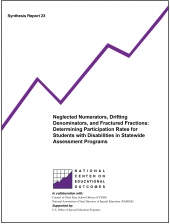 Neglected Numerators, Drifting Denominators, and Fractured Fractions: Determining Participation Rates for Students with Disabilities in Statewide Assessment Programs (#23)