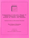 Implementation of Alternative Methods for Making Educational Accountability Decisions for Students with Disabilities (#12)