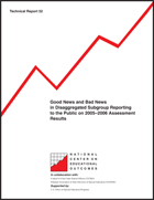 Good News and Bad News in Disaggregated Subgroup Reporting to the Public on 2005-2006 Assessment Results (#52)