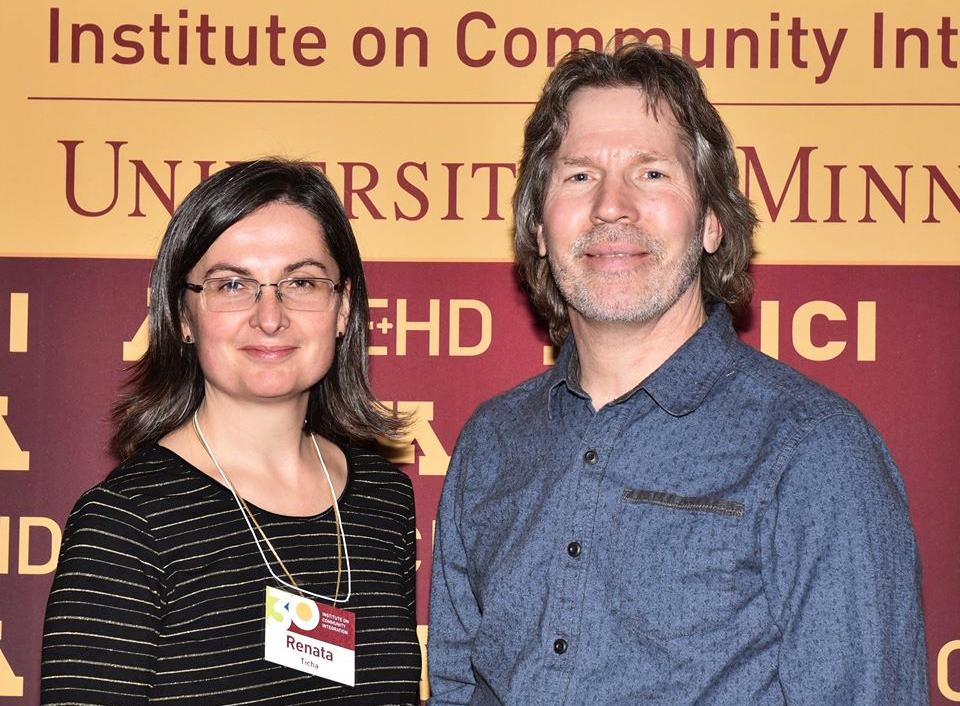 Renáta Tichá and Brian Abery.