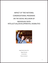 Impact of Two National Congregational Programs on the Social Inclusion of Individuals with Intellectual/Developmental Disabilities