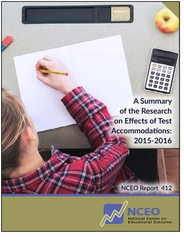A Summary of the Research on Effects of Test Accommodations: 2015-2016 (#412)