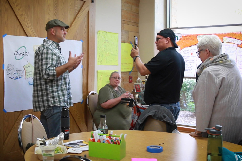A discussion during the 2019 Minnesota Gathering.