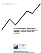 Educator Perceptions of Instructional Strategies for Standards-based Education of English Language Learners with Disabilities (#7)