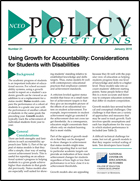 Using Growth for Accountability - Considerations for Students with Disabilities (#21)