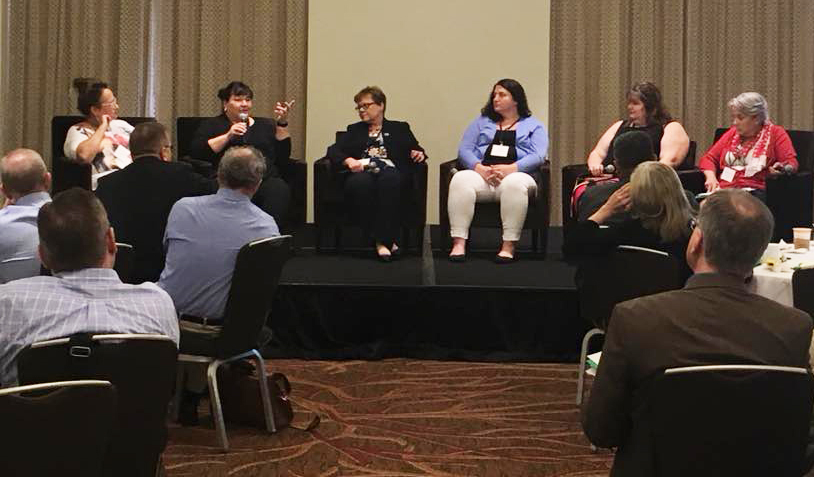 Panel discussion during the national Direct Support Professional workforce summit.