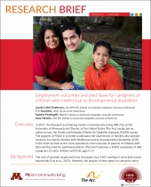 Research Brief 8: Employment Outcomes and Paid Leave for Caregivers of Children with Intellectual or Developmental Disabilities