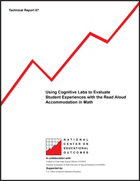 Using Cognitive Labs to Evaluate Student Experiences with the Read-Aloud Accommodation in Math (#67)