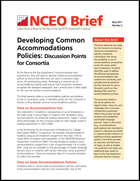 Developing Common Accommodations Policies Discussion Points for Consortia (#2)