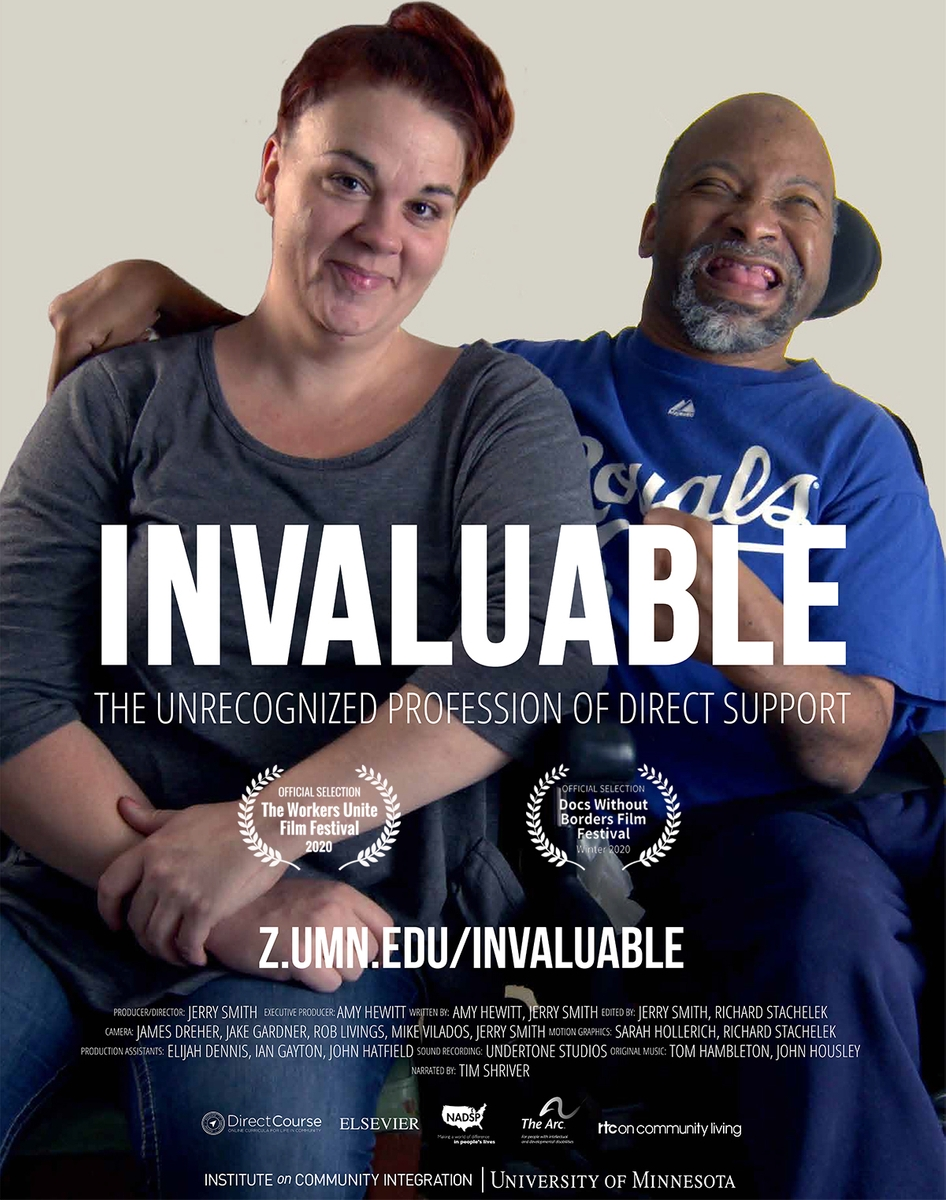 movie poster for invaluable: the unrecognized profession of direct support