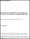 A Summary of Research on the Effects of Test Accommodations: 1999 through 2001 (#34)