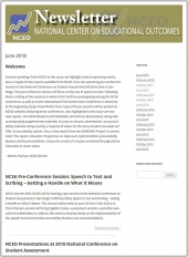 NCEO Newsletter: June 2018 issue