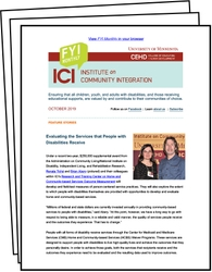 FYI Monthly from the Institute on Community Integration