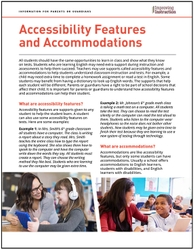 Accessibility Features and Accommodations: Information for Parents or Guardians