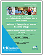 Preparing for Life After High School: The Characteristics and Experiences of Youth in Special Education. Findings from the National Longitudinal Transition Study 2012. Volume 2: Comparisons Across Disability Groups: Full Report