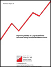 Improving Validity of Large-Scale Tests: Universal Design and Student Performance (#37)