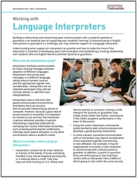Working with Language Interpreters: Information for Teachers